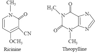 ricinine and theophylline