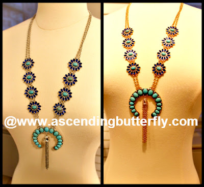 Western Chic Collection, Statement Necklaces, Southwestern Jewelry, Indian Inspired Jewelry, Fantasy Jewelry, Costume Jewelry, Press Preview of Countess LuAnn de Lesseps Countess Jewelry Collection in New York City, Goldtone Necklace, Silvertone Necklace, Jewelry Collage