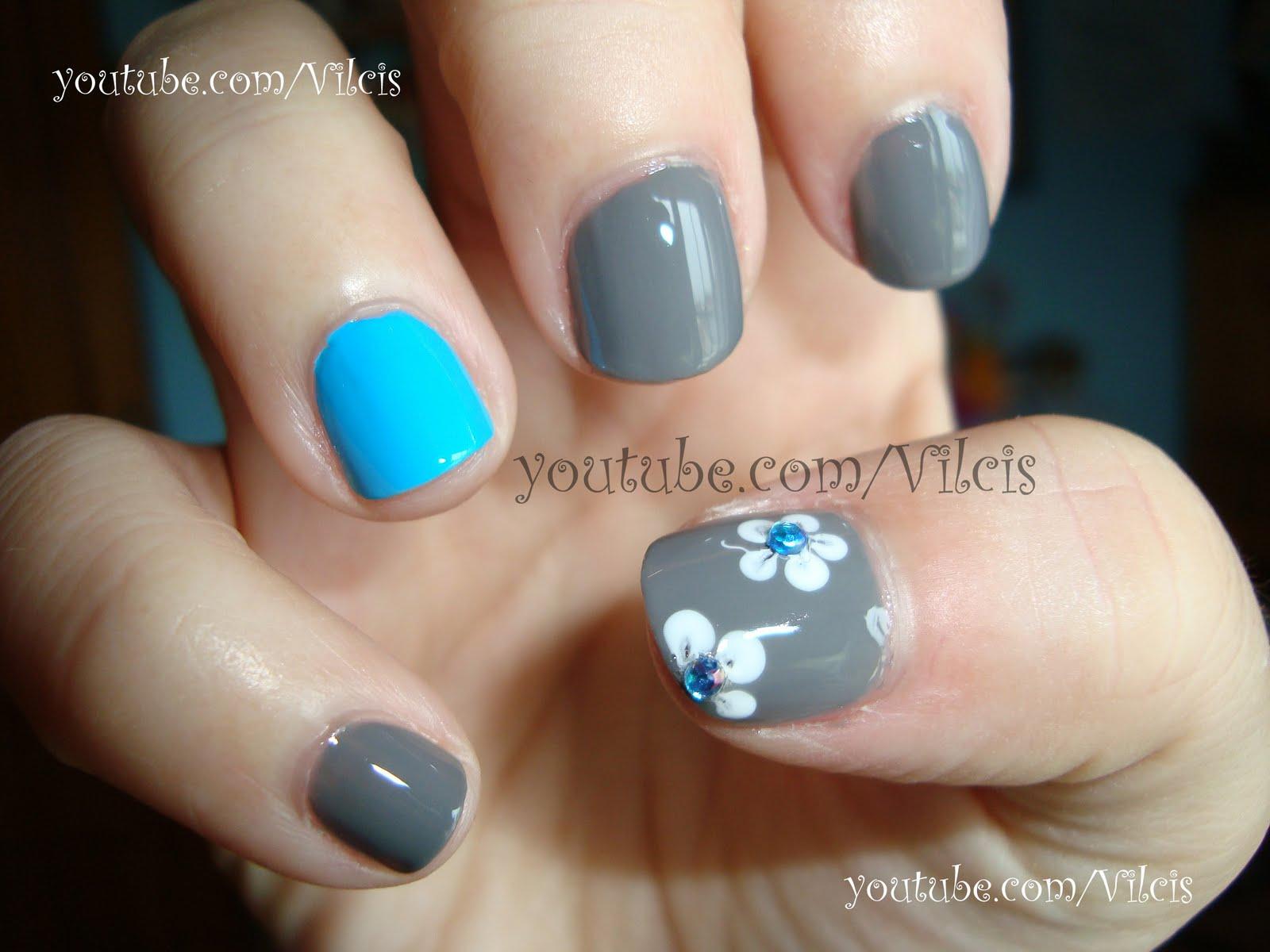 Vilcis nail designs: Uñas cortas, diseño sencillo
