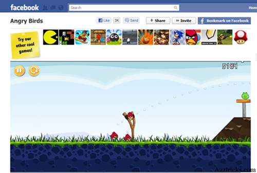Asiknya bermain game Angry Birds di facebook,aplikasi game facebook(FB) terbaru