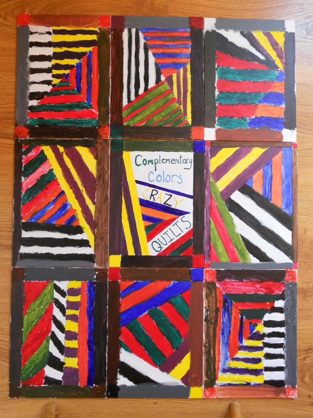 create art with mrs p complementary color crazy quilts
