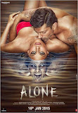 Hot Bipasha Basu and Karan Singh Grover posing sensually in poster of Hindi movie Alone