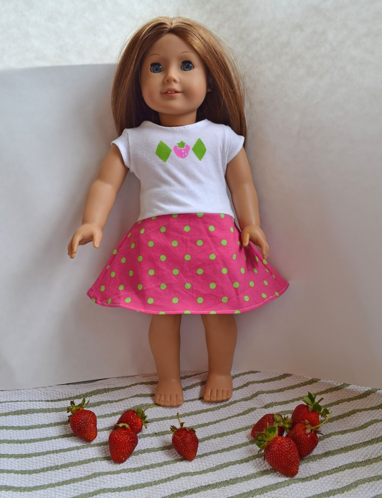 American Girl Doll Strawberry Shortcake Dress