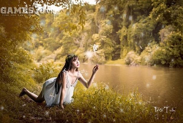Ngọc Trần bán khỏa thân mộng mơ trong rừng 11