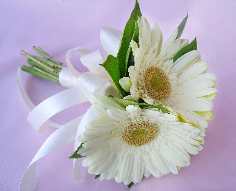 wedding flowers white gerbera daisies