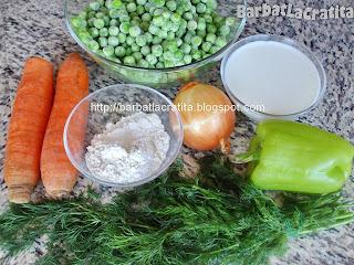 Mancare de mazare cu lapte ingrediente reteta
