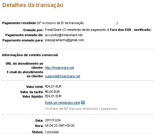 8ª Prova Pagamento Freakshare (24,01€)