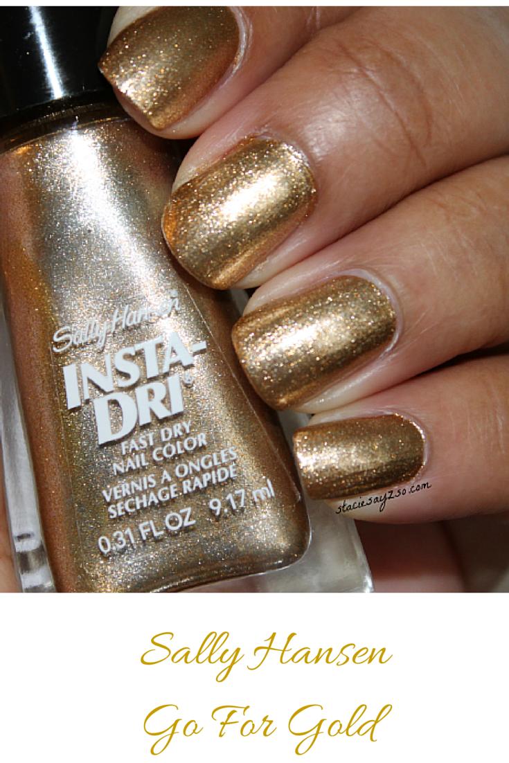 Notd Sally Hansen Go For Gold Insta Dri Nail Polish