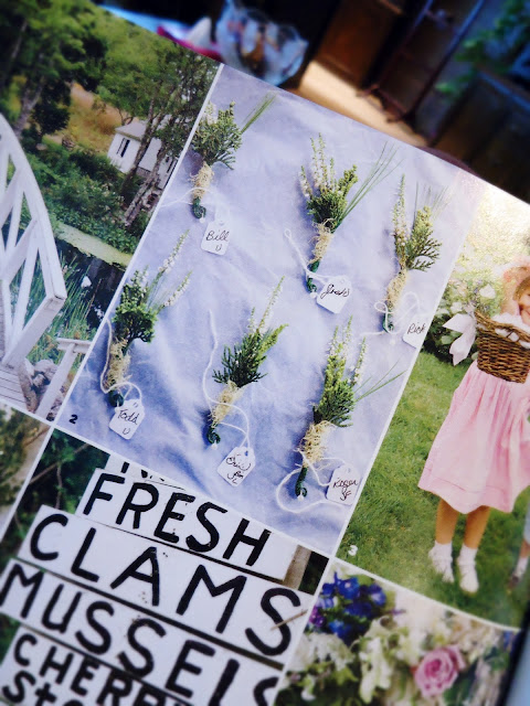 Brides Magazine: Boutonnieres crafted out of native plants.