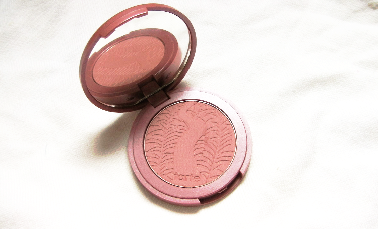 tarte exposed blush review swatches