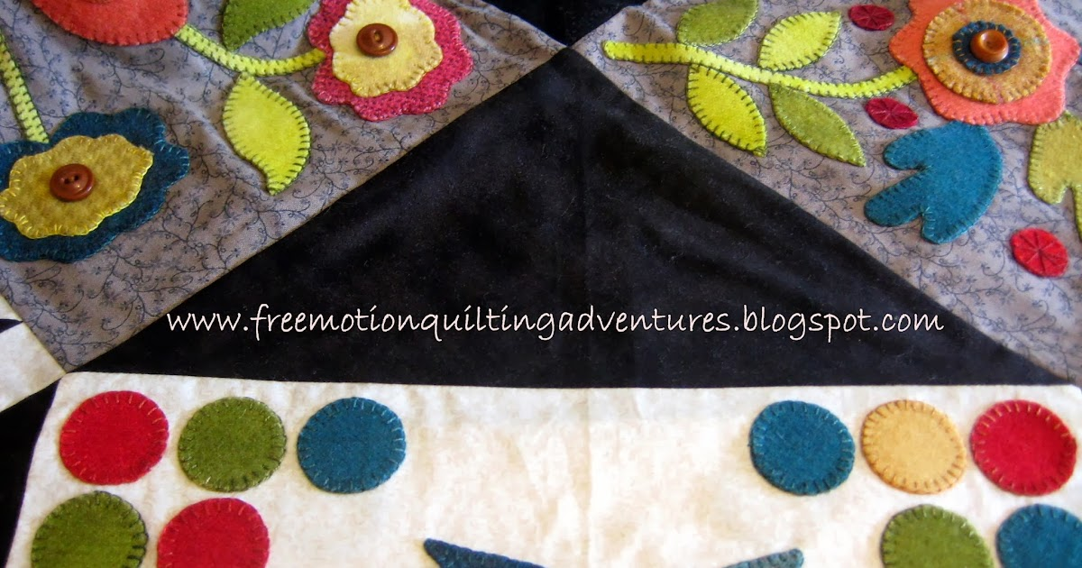 Amy s Free Motion Quilting Adventures: Free Motion Feathers in Triangles