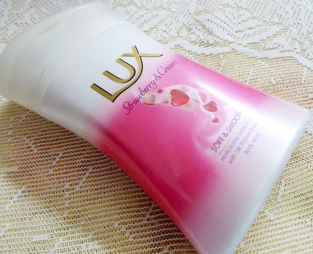 Lux Body Wash Strawberry and Cream