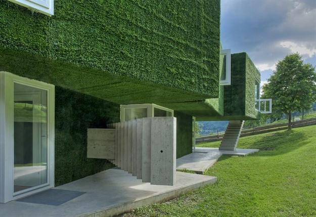 في النمسا واحد من أغرب المنازل التي شيدت وتم تغطيتها بالعشب الأخضر Grass-Covered-House-in-Frohnleiten-by-ORTIS-GmbH-19
