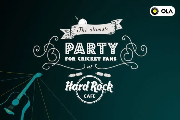 Ola Match Night: IPL Final Party @ Hard Rock Cafe in Gurgaon, Mumbai, Hyderabad, Chennai, Bangalore Pune