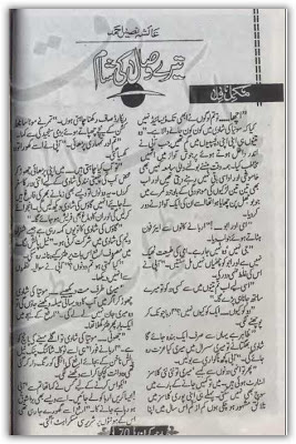 Tery wasal ki shaam novel by Ayesha Naseer Ahmed pdf.