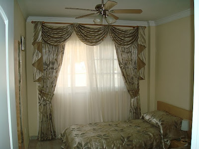 Ethnic Look Bedroom Curtain Design
