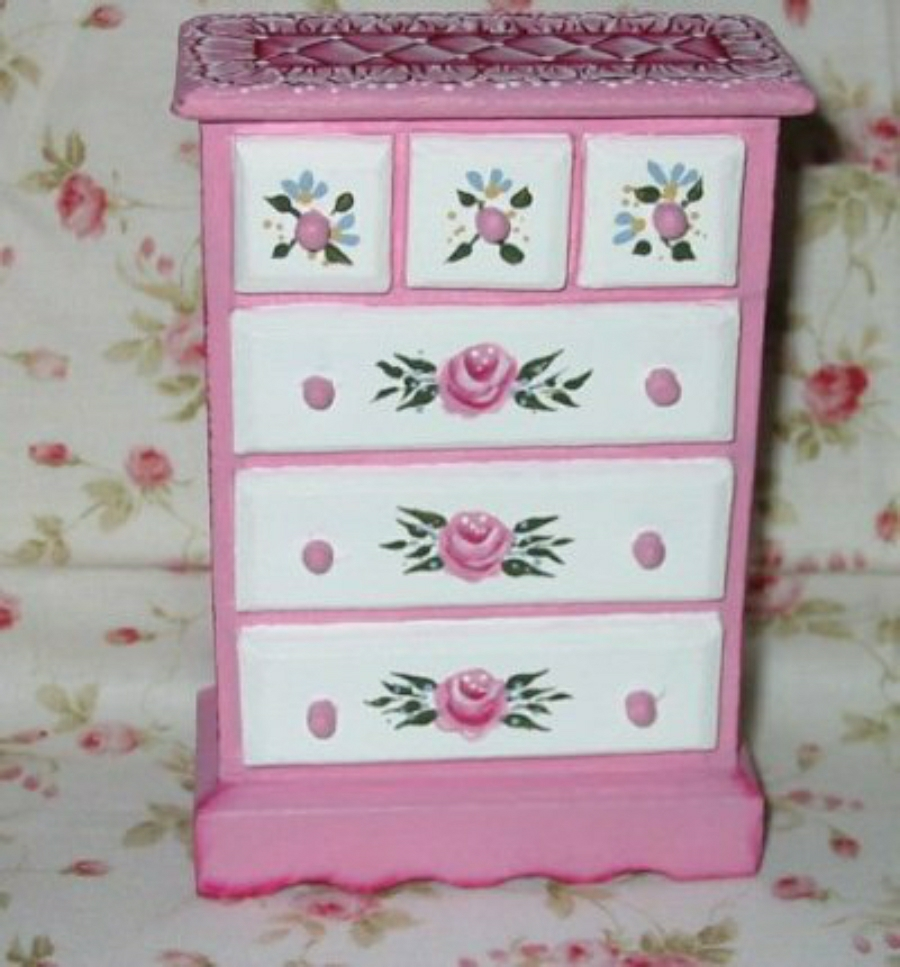 Miniature Hand Painted Furniture on fleur de lis home furniture