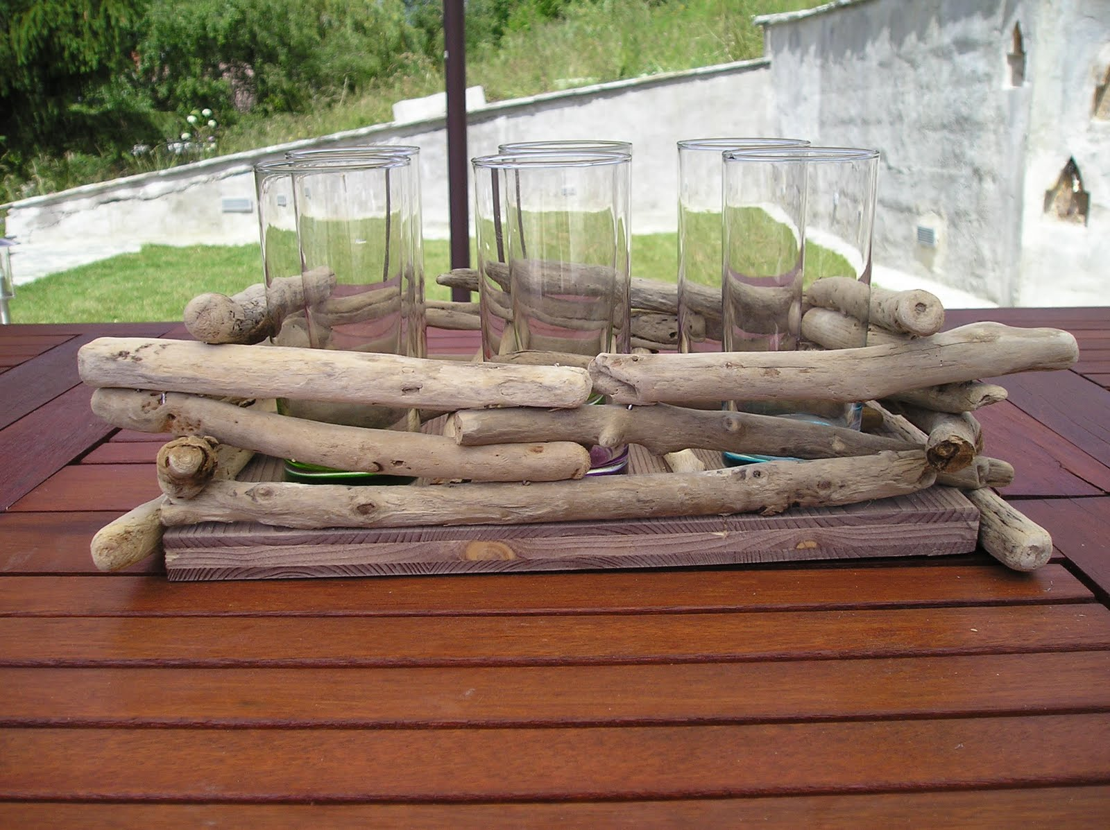 Art d co bois flott cr ations diverses en bois flott for Plateau bois flotte