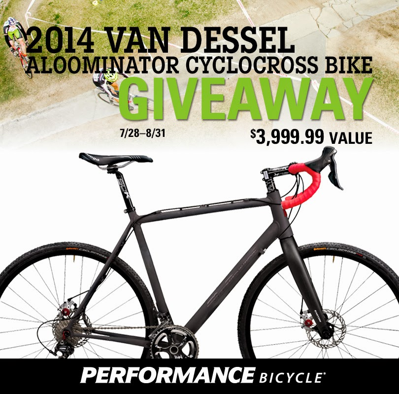 Enter the 2014 Van Dessel Aloominator Cyclocross Bike Giveaway. Ends 8/31.