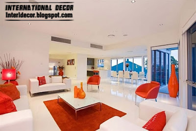 modern minimalist house Interior Decorating Modern living rooms red, white design 2013