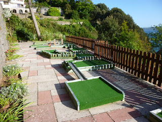 Crazy Golf course at The Imperial Hotel in Torquay, Devon