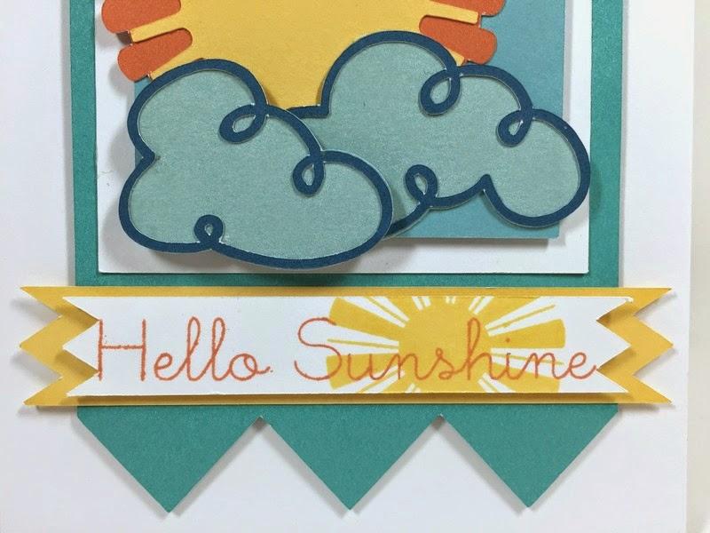 Cricut Sunshine card sentiment