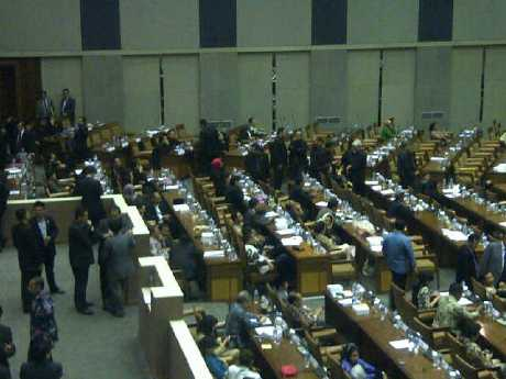 Hasil Rapat Paripurna 30 Maret  2012, Hasil Sidang Paripurna 30 Maret  2012