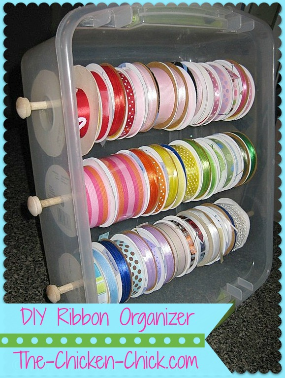Diy ribbon organizer tote the chicken chick diy ribbon organizer tote solutioingenieria Image collections