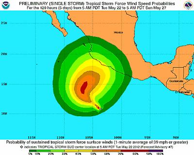 primer huracan de la temporada del pacifico oriental EEUU