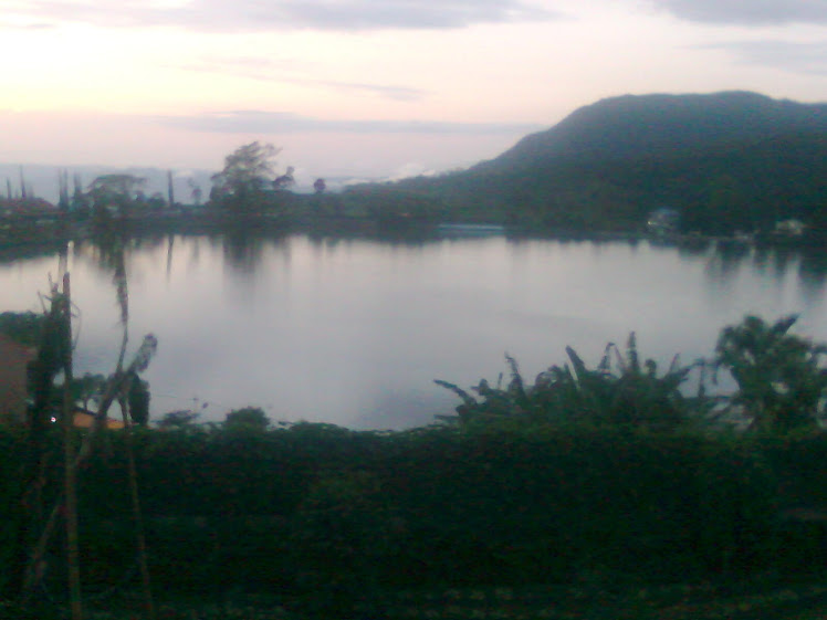 Early morning on the lake Sarangan