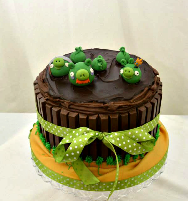 angry birds kit kat birthday cake