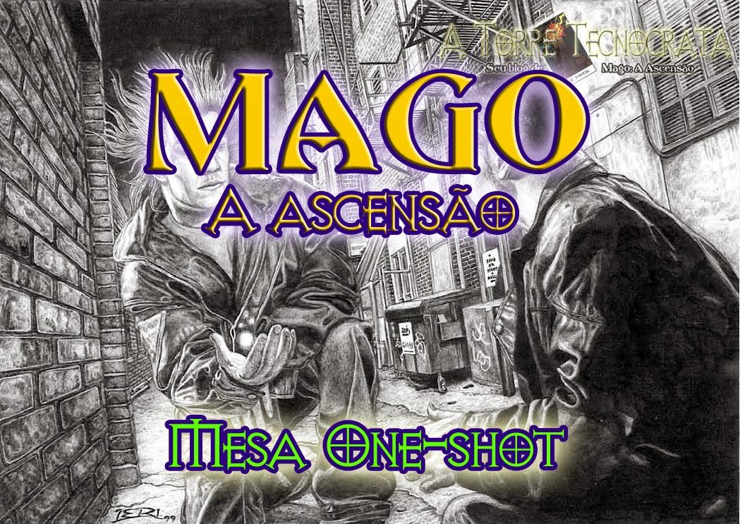 Anúncio da mesa one-shot de Mago no evento Dungeon Carioca