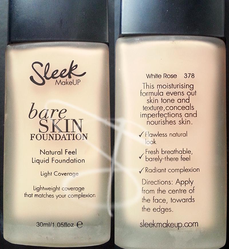 Bare Skin Foundation Sleek Make Up, Sleek Make Up, novità sleek make up, fondotinta low cost