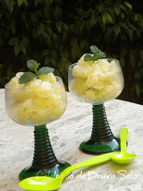 Raspadinha de limão e hortelã
