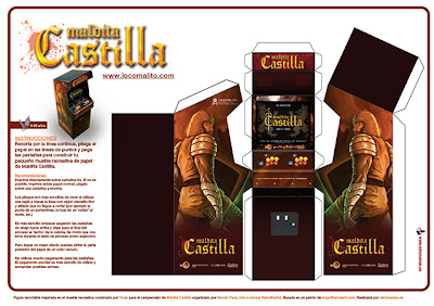 Modelo paper craft papel recreativa Maldita Castilla