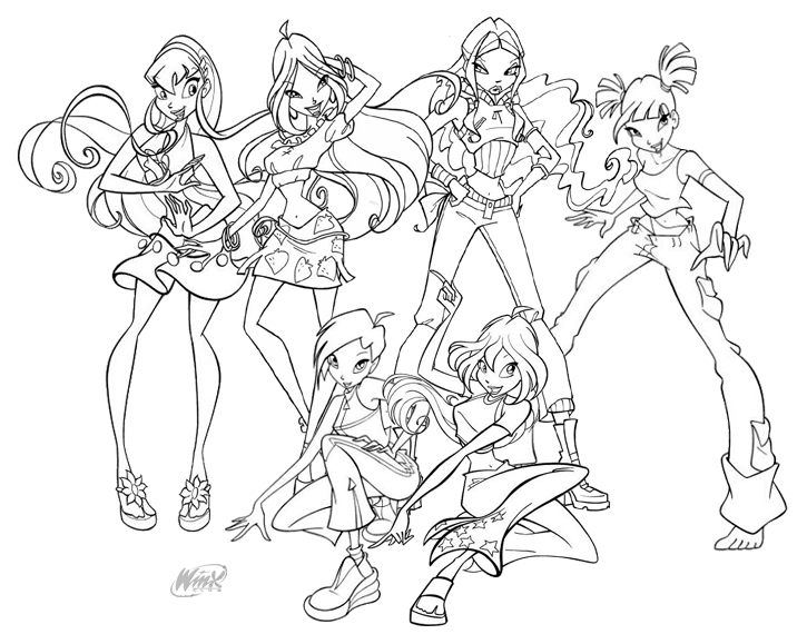Winx club coloring pages free printable pictures for Winx coloring pages printable