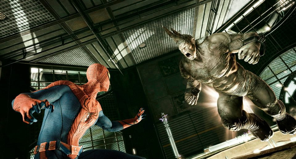 The Amazing Spider-Man Game 2012 Spider-Man versus Rhino