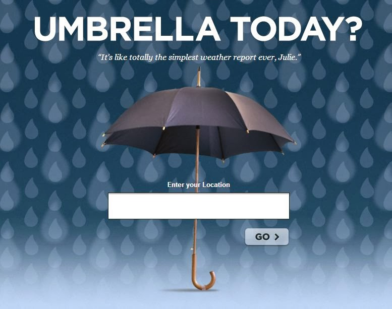 Do I Need an Umbrella Today?