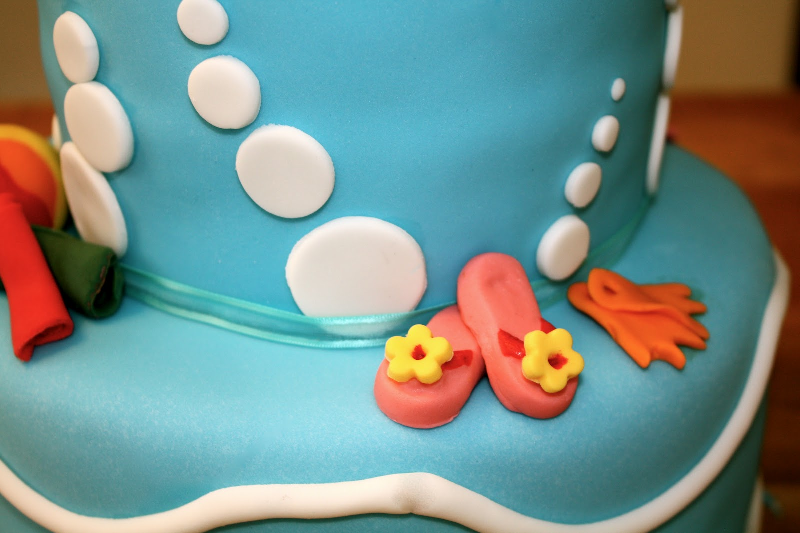 Bumble Cakes Summer Pool Party Birthday Cake