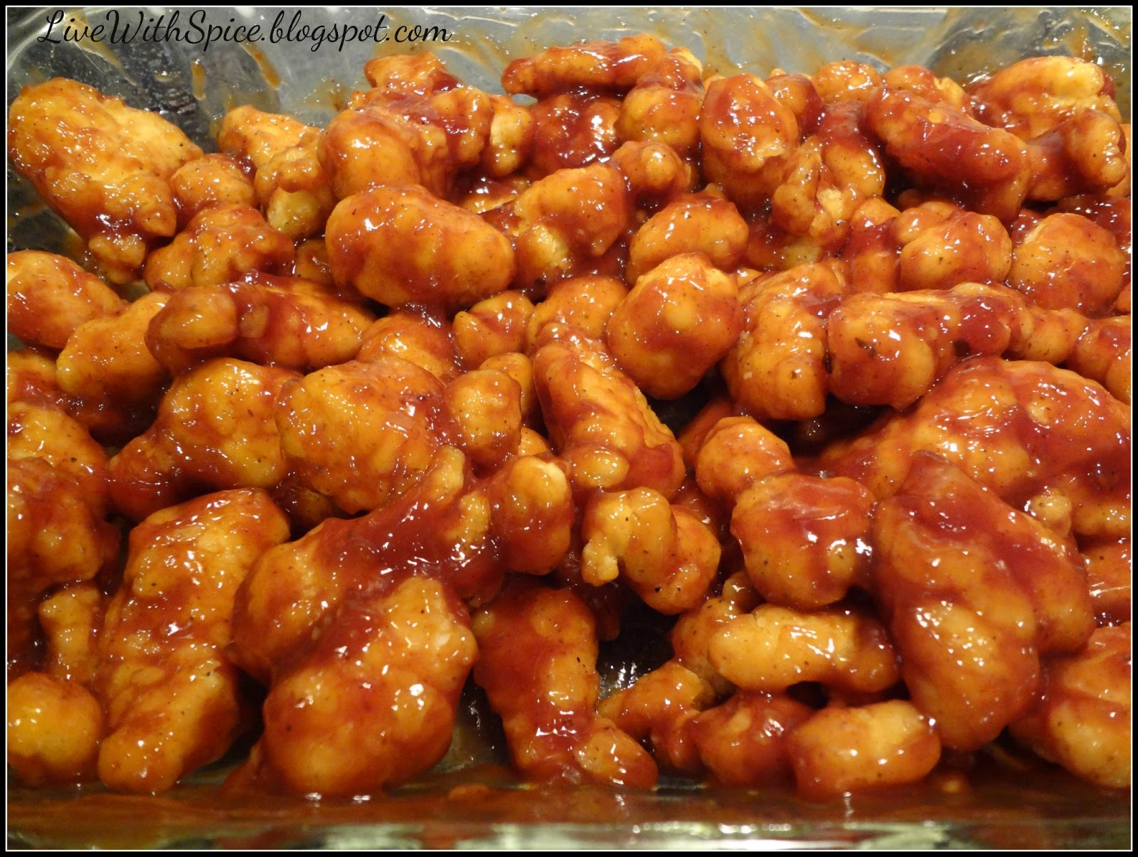 Live With Spice: Honey BBQ Popcorn Chicken