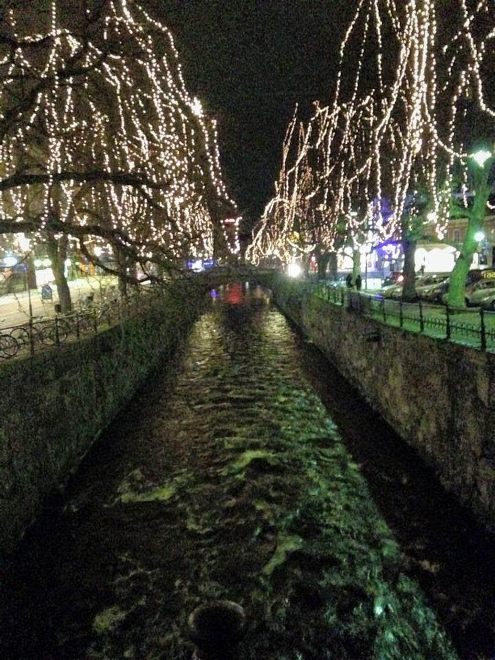 Christmas lights in Uppsala