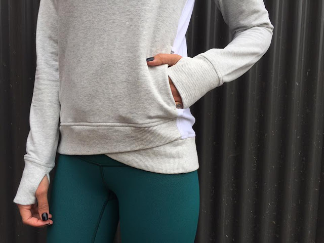 lululemon forage-teal-wunder-under-pant on-the-double-pullover