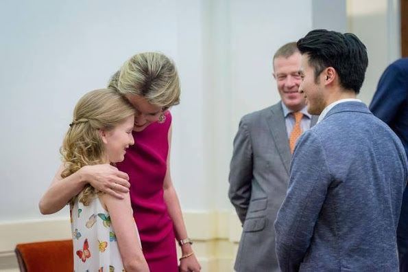 Princess Elisabeth And Queen Mathilde At The Brussels Bozar