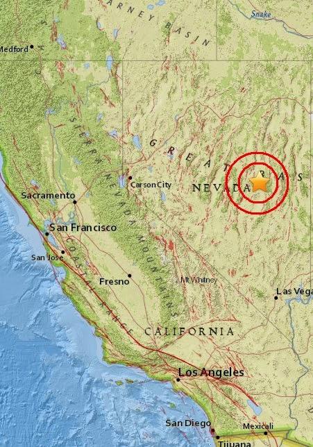 Magnitude 3.7 Earthquake of Currant, Nevada 2015-05-04