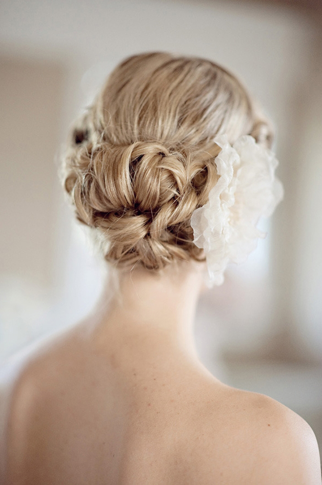 Bridal Updo Flower : Wedding hairstyles updo part belle the magazine