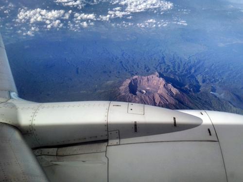 ジャワ島のグヌンブラピ(gunung berapi) 火山