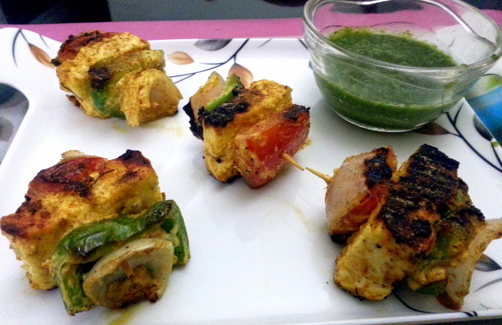 Grilled Paneer Tikka recipe