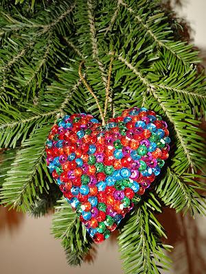 Christmas Tree Ornament A Heart