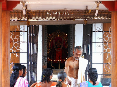 Morning prayers at Shree Krishna temple in Kannur, Kerala