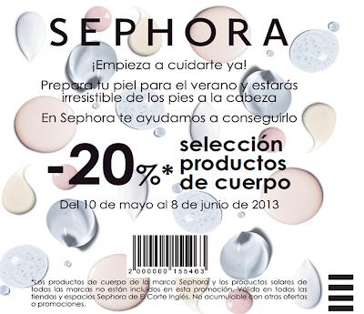 SEPHORA 20% DESCUENTO EN PRODUCTOS CORPORALES